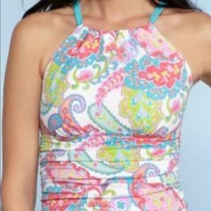 Lilly Pulitzer inspired tankini top